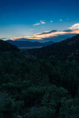 Kolob Canyon sunset (Ed Rosack) Tags: utah landscape tree sunset canyon twilight cloud sky edrosack zionnationalpark valley usa mountain cloudy dusk
