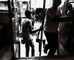 Rush Hour (arkamitralahiri) Tags: india indian kolkata calcutta people places transport bus officehour city town urban streetphotography streetscene blackandwhite monochrome pedestrian commuters westbengal travel documentary wideangle street northcalcutta