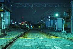 P7250042 (Tomohiro Tsuta) Tags: night station olympus f18 japan railroad train