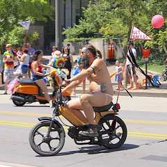 Scooters On Parade (oxfordblues84) Tags: gay gayprideparade prideparade gaypride columbus columbusohio ohio stonewallprideparade stonewallprideparade2016 columbusstonewallprideparade2016 highstreet lesbian lgbtq scootersonparade scooter tattoo tattoos jockstrap man guy beard getnaked nearlynaked balloon