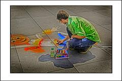 IMG_1576  PAVEMENT ART. (Derek Hyamson) Tags: hdr candid liverpool pavement art colour