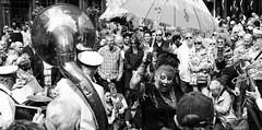 Mardi Gras (Duncan212) Tags: street people blackandwhite bw festival blackwhite crowd streetphotography mardigras grassmarket jazzfestival unbrella