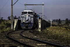 "2253'26.7""S 4708'10.0""W (Fabio_CPS) Tags: railroad railway rust color cam treking outdoor power nature angular street sd70 ac44 ge extreme calor hot sun"