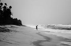Alone @ Shores of Arabian sea,India (vjisin) Tags: she trees sea blackandwhite woman india tree beach monochrome composition coast nikon asia waves alone silence karnataka nowords kaup footmarks cwc arabiansea nikond3200 indianwoman inexplore kapubeach konkancoast nikonindia chennaiweekendclickers nikonofficial cwc534