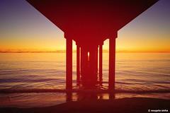 Brighton jetty (Sougata2013) Tags: brightonjetty adelaide southaustralia australia jetty sunset colours sea seabeach gulfstvincent nikond3200 landscape brighton