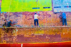 Dock Worker (jalam@machizo.com) Tags: dock ship bangladesh worker travel color landscape pepole