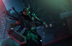 Now I am Become Death, the Destroyer of Worlds (Tyler Oysternatz (on vacation)) Tags: vishnu death samurai nc dragonslayer arms hands noblecreations sword marukado reckless