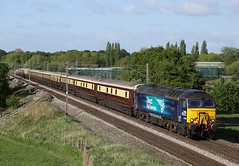 57306 passes Red Bank (Ross Taylor pictures 2015) Tags: 57306 57305 1z25 drs class57 grange over sands wolverhampton red bank 2016 uk england northern belle