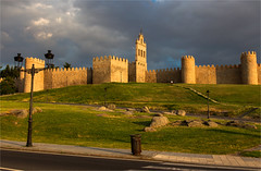 The Walls of Avila / Spain 2016 (zilverbat.) Tags: spanje zilverbat travel unescoheritage unesco wall visit spain clouds classic sunlight heritage architecture culture walls history canon image defence structure avila tourism tourisme tripadvisor lights watchtowers towers tower extremadura goldenhour bookcover hotel hotspot ommuuring town