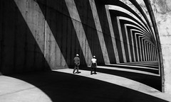Stripes (Georgie Pauwels) Tags: street shadows light stripes geometry streetphotography candid fujifilm monochrome