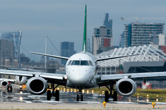 Alitalia Cityliner - Embraer ERJ-190STD - EI-RND  London City Airport (paulstevenchalmers) Tags: london londoncity airport lcy
