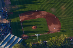 Royal Athletic Park! (C McCann) Tags: victoria bc britishcolumbia canada vancouverisland baseball royalathleticpark flying cgtdk tdk cessna 172 c172 sunset evening flight fatpnw