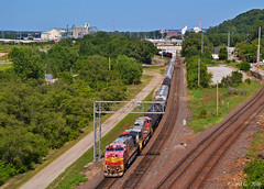 "Westbound Transfer in Kansas City, MO (""Righteous"" Grant G.) Tags: bnsf atsf santa fe railway locomotive train trains west westbound transfer kansas city missouri warbonnet"