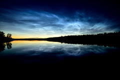 Noctilucent clouds (m.martinsson87) Tags: noctilucent clouds sky water lake sea night evening dusk stars sun sunset light trees forest contrast blue art beautiful summer landscape twilight outdoor out ice