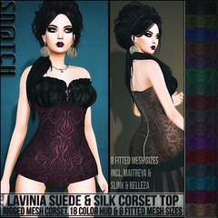 Sn@tch Lavinia Suede Corset Top Vendor Ad LG (Tess-Ivey Deschanel) Tags: lovefest hplovecraft sntch snatch secondlife sl second life sexy style specials new newrelease newreleases iveydeschanel ivey ihearts deschanel clothing clothes costumes clubwear casual slink omegasystem outfits omega mesh model meshclothing meshclothes models