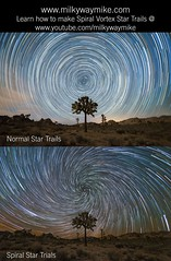Vortex Spiral Star Trails Tutorial (Mike Ver Sprill - Milky Way Mike) Tags: vortex spiral startrails lincolnharrison milkywaymike milkyway mikeversprill michaelversprill joshuatree nationalpark cali california nightsky nightscape nightscapers landscape spiralstartrails twist twistingstars tutorial learn howto unique createart astrophotography astronomy galaxy cosmos polaris northstar