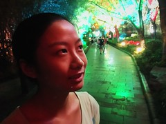 Meeting by the Lake, Guilin (chinese johnny) Tags: china iphone iphoneonly chinese color documentaryphotography instagram iphonese guangxi photographsofchina shanlake ronglake nightlights guilin vscocam vsco artisawoman