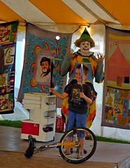 A Volunteer, Please (mudder_bbc) Tags: clowns garythesilentclown rensselaercounty newyork countyfairs schaghticokefair labordayweekend people