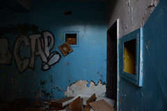 tempo di rassettare - time to put in order (francesco melchionda) Tags: cetinje colors blue abandoned decay decadence urbanexploration urbex