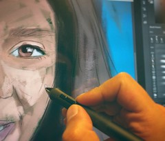 Here is a sneak peek of a new portrait ;) #Portrait #painting #Drawing #digitalPainting #Sketching #wacom #original #art #illustration #draw #artist #sketch #sketchbook #Pencil #pen #instaart #gallery #creative #MyDubai #Dubai #jordan #gift #birthday #vac (ahmad kadi) Tags: instagram here is sneak peek new portrait painting drawing digitalpainting sketching wacom original art illustration draw artist sketch sketchbook pencil pen instaart gallery creative mydubai dubai jordan gift birthday vacation trip wip kadisart commission