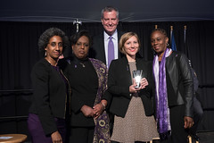 Mayor Bill de Blasio, First Lady Chirlane McCray and Office to Combat Domestic Violence Commissioner Cecile Noel host the Citys 3rd annual Upstander Awards at Gracie Mansion (nycmayorsoffice) Tags: publicsafety family thrivenyc moscpe newyork ny usa
