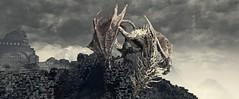 Dark Souls III (ConnecteD\_) Tags: dark souls iii dragon storm ruins mountains screenshot panoramic panorama