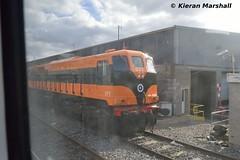 071 at Inchicore, 6/10/16 (hurricanemk1c) Tags: railways railway train trains irish rail irishrail iarnrd ireann iarnrdireann 2016 generalmotors gm emd 071 dublin inchicore