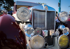 mg wa sports saloon (ben cairns) Tags: nikon nikond5200 isleofwight ryde classic vintage mg car transport saloon flikr vehicle chrome grill hood headlight unionflag badge badges club anniversary red blue