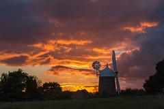 Sunset, Heage Windmill, Derbyshire (Geraldine Curtis) Tags: sunset heagewindmill derbyshire goldenlight sixsails windmill restored