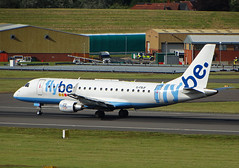 G-FBJF Embraer 175 of Flybe (SteveDHall) Tags: aircraft airport aviation airfield aerodrome aeroplane airplane airliner airliners birmingham birminghamairport bhx 2016 gfbjf embraer e175 flybe embraer175 bee be