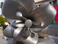 "The lily half of ""Federal Triangle Flowers"" (blueskies9) Tags: washingtondc flower sculpture publicart art"