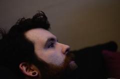 (ScreamingSoul) Tags: blue portrait man face rock metal beard person nikon alt pale plug armstrong howlieson