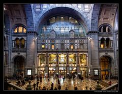 Antwerpen - Hal Centraal Station (Hans van Bockel) Tags: city monument nikon raw belgium belgique belgië coolpix nrw hal antwerpen stad anvers sation centraal p7700