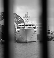 Artistic Astor (PhillMono) Tags: voyage new cruise white black classic wales boat nikon ship harbour south sydney australia vessel bow passenger astor tanker destine d7100