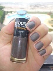 Urbanik - Partiu Night (Elizeth) Tags: sand nails marrom esmalte texturizado urbanik