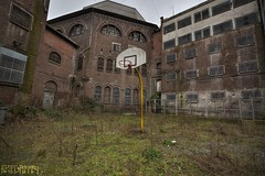 Slammed (Kriegaffe 9) Tags: france abandoned overgrown basketball yard weeds decay prison slammed urbex