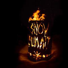 Snow Summit Fire Barrel at Rail Jam