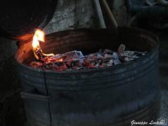 Barbecue (PinoShot) Tags: fire stem flames bin barbecue carbon coal fuoco fiamme bidone carbone fusto