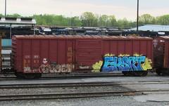 voyer - eksrt (timetomakethepasta) Tags: train graffiti boxcar freight voyer eksrt