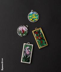 Mosaic Jewellery (25) (KupavaArt) Tags: flowers jewellery frame mosai kupavaart