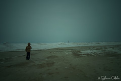 Mystic Shores (chazyshay) Tags: portrait lighthouse lake beach portraits frozen moody gloomy eerie lakemichigan greatlakes portraiture mysterious frozenlakemichigan