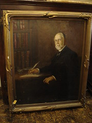 "HUGE PORTRAIT OF A MAN WITH QUILL, HEAVY GESSO FRAME • <a style=""font-size:0.8em;"" href=""http://www.flickr.com/photos/51721355@N02/16478873600/"" target=""_blank"">View on Flickr</a>"