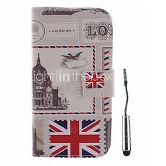 Британская шаблон конверта PU кожаный чехол для всего тела с помощью стилуса для LG L80