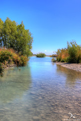 A gentle stream (savv_nz) Tags: newzealand water river canterbury hdr braided rakaia rakaiariver
