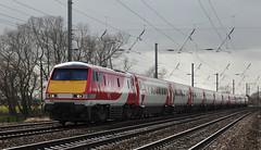 91124 Copmanthorpe 02/03/2015 (Flash_3939) Tags: new york uk red electric train march yorkshire rail railway virgin locomotive eastcoast virgintrains livery eastcoastmainline vtec 2015 copmanthorpe ecml class91 82219 91124 bn03 virgintrainseastcoast