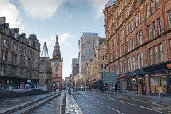 Looking west along Trongate from Glasgow Cross
