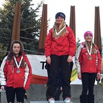 TECK U14 GS Whistler, Gold - Maja Woolley, Silver - Gigi Kranjc - Bronze - Chloe Arragoni, all from WMSC PHOTO CREDIT: Davis Jevning