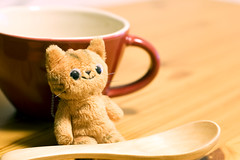 waiting for dinner (fudepentaro) Tags: cute soup funny mascot button mug