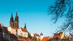 Albrechtsburg Meien (Philipp Seibt) Tags: city white castle berg germany deutschland town saxony gothic sachsen stadt late weiss burg meissen weis albrechtsburg gothisch burgberg meisen sptgothisch