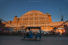 The tut tut rider (Thanwan Singh) Tags: road street travel blue sky orange india travelling monument shopping tour wind famous north mahal palace cleaning adventure achievement cycle jaipur rajasthan bicyle hawa 2014 42days bucketlist thanwan blackjuice7 wanphotography